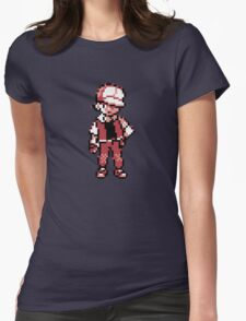 Red (Trainer) - Pokemon Gold & Silver Womens Fitted T-Shirt
