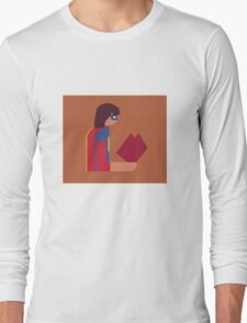 Ms. Lady Reads Long Sleeve T-Shirt