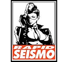 Crimson Viper Rapid Seismo Obey Design Photographic Print