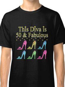 SHOE LOVING 50TH BIRTHDAY DIVA Classic T-Shirt