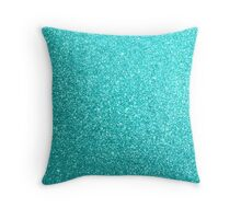Tiffany Aqua Blue Glitter Throw Pillow
