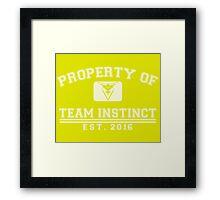 Pokemon Go - Property of Team Instinct Framed Print
