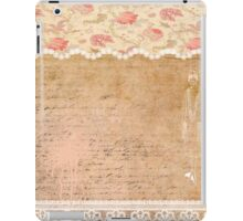 Rustic, collage,parchment,lace,floral fabric, typography iPad Case/Skin