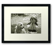 I'll count to ten...you hide Framed Print