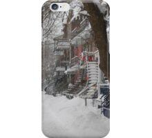 Montreal Winter Scene iPhone Case/Skin