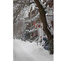 Montreal Winter Scene Photographic Print