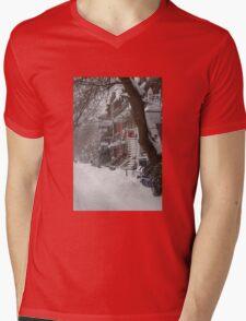 Montreal Winter Scene Mens V-Neck T-Shirt
