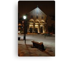 Montreal Church in Winter Canvas Print