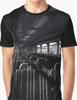 Empty Train Carriage - Mono Graphic T-Shirt
