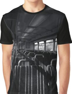 Empty Train Carriage - Mono Graphic T-Shirt