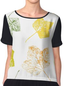 Currant leaves Chiffon Top