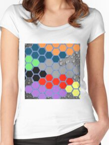 Collage of different patterns Women's Fitted Scoop T-Shirt