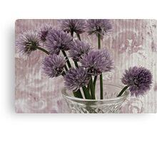 Chive Bouquet Canvas Print