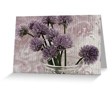 Chive Bouquet Greeting Card