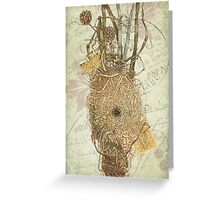 Vintage Bird Nest Illustration - French Ephemera Collage - Rustic Woodland - Apiary Illustration Greeting Card