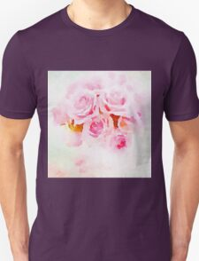 Water color painting,pink roses Unisex T-Shirt