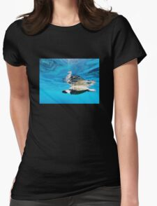 SEA TURTLE & SEAHORSE Womens Fitted T-Shirt