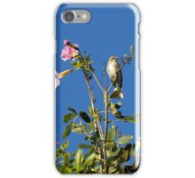 Tiny Palm Warbler on Top of Flowering Tree iPhone Case/Skin