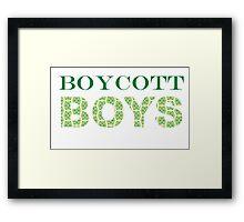 Boycott Boys Framed Print