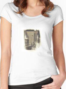 Portland Maine Salt Print Photo Women's Fitted Scoop T-Shirt