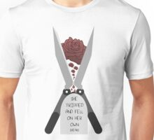 She Tripped and Fell on Her Own Shears Unisex T-Shirt