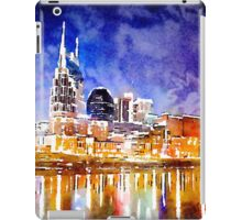 Nashville Nighttime Watercolor iPad Case/Skin