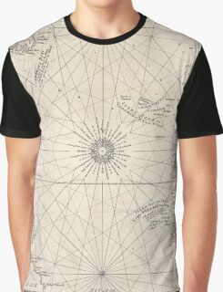 Vintage Map of The Atlantic Ocean (1746) Graphic T-Shirt