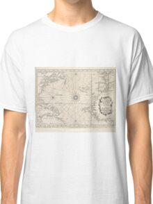 Vintage Map of The Atlantic Ocean (1746) Classic T-Shirt