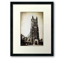 Vintage Style Duke University  Framed Print