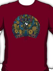 peacock garden white T-Shirt