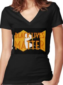 Black Lives Matter Women's Fitted V-Neck T-Shirt