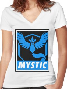 Mystic Colored Bar Women's Fitted V-Neck T-Shirt