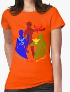 POKEMON GO TEAM INSTINCT, VALOR, MYSTIC, TRAINER T-SHIRT Womens Fitted T-Shirt