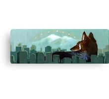 Coyote Skyline Canvas Print