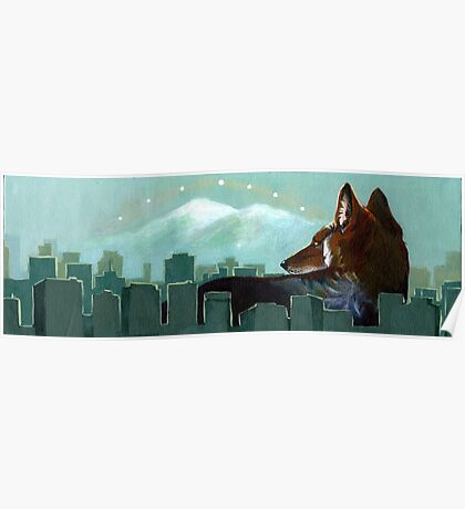 Coyote Skyline Poster