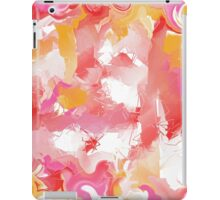 Abstract in red, yellow, pink, and white iPad Case/Skin
