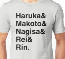 Free! Iwatobi Swim Club Names Unisex T-Shirt