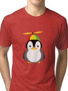 Penguin fly Tri-blend T-Shirt