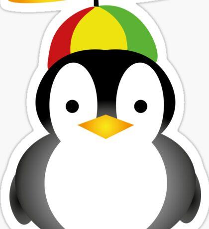 Penguin fly Sticker