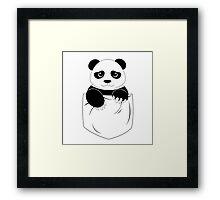 Simple panda pocket design Framed Print