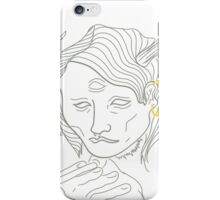 Smoking Antlers (No Color) iPhone Case/Skin