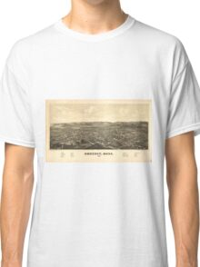 Vintage Pictorial Map of Amherst MA (1886) Classic T-Shirt