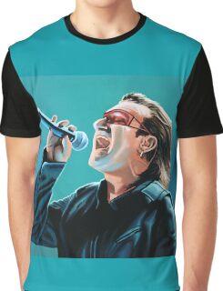 Bono of U2 Painting Graphic T-Shirt