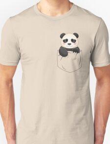 Kawaii Panda pocket design Unisex T-Shirt