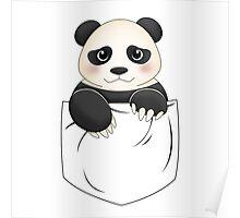 Kawaii Panda pocket design Poster