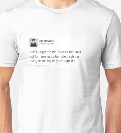 Roll away trash can Unisex T-Shirt