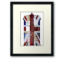 Union Jack TARDIS with Gallifreyan  Framed Print