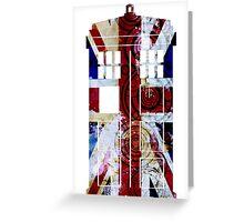 Union Jack TARDIS with Gallifreyan  Greeting Card