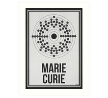 MARIE CURIE - Women in Science Wall Art Art Print