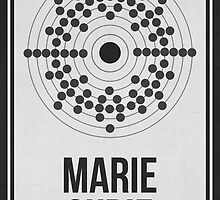 MARIE CURIE - Women in Science Wall Art by Hydrogene